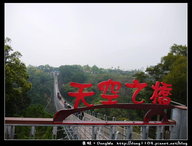 南投。猴探井步道。天空之橋
