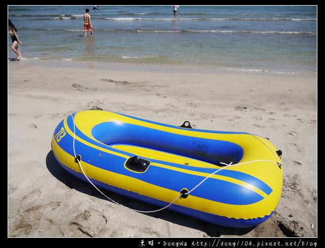 【新北遊記】石門沙灘。白沙灣海水浴場。各式泳圈出租