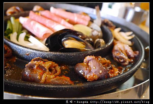 【中壢食記】中原大學韓國料理|大惡魔限定鐵板烤肉鍋|AGMA春川炒雞起司鍋