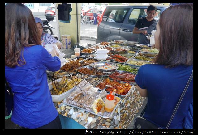 【沙巴自助/自由行】沙巴亞庇市區夜市 在地特色便當 各式特色小吃水果 天橋下夜市
