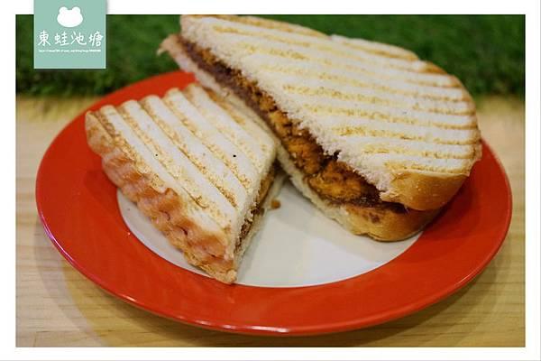 【中壢熱壓三明治推薦】自製吐司 美味早午餐 肉sandwich
