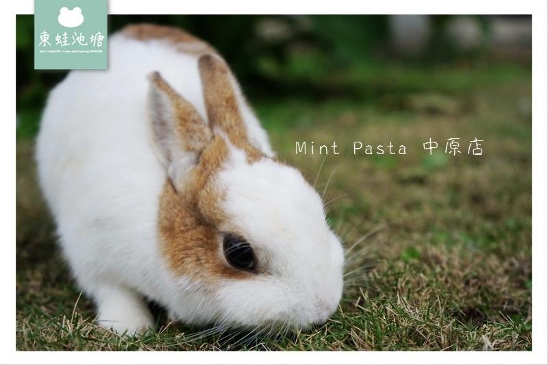 【中原義大利麵推薦】超多可愛兔兔在草坪奔跑 專屬機車停車場 Mint Pasta 中原店