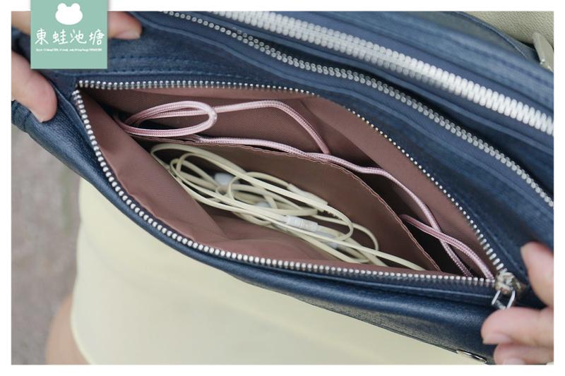 【父親節送禮好選擇】帆布過膠超輕量 雙主袋設計超方便 VECHIO SYMI 輕巧流行斜背包