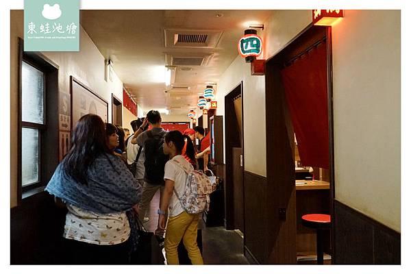 【台北信義區拉麵推薦】赤紅秘製醬汁 味集中座位區 天然豚骨拉麵專門店 一蘭台灣台北本店別館