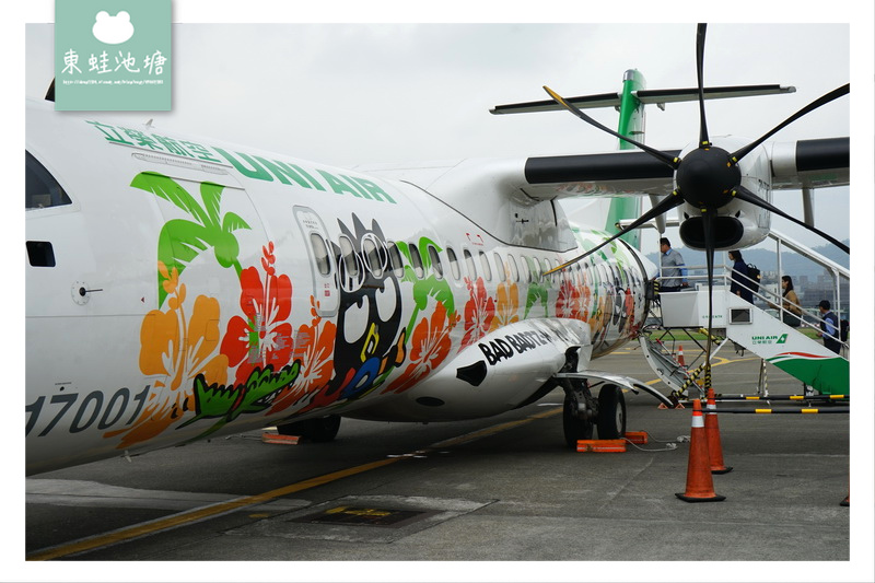 【台北松山飛台東】搭乘立榮航空超方便 酷企鵝彩繪機初體驗