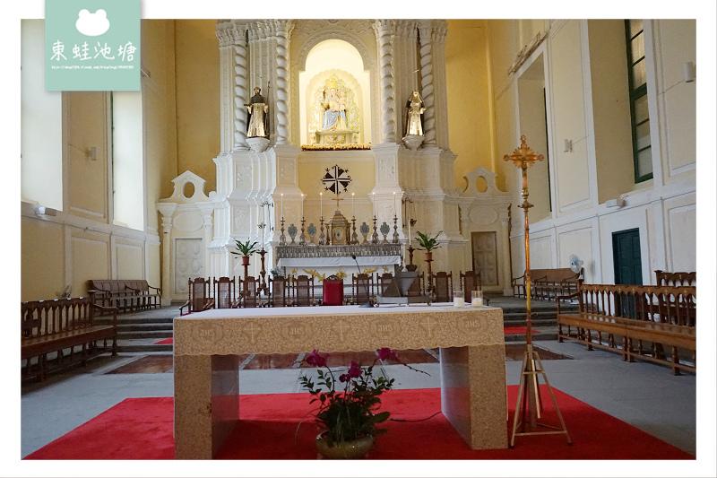【澳門景點推薦】澳門世界遺產 創建於1587年 玫瑰聖母堂(板樟堂)