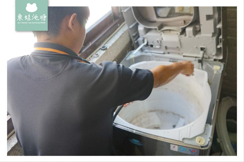【台中洗衣機清洗推薦】專業電器行師傅到府服務 台中日鑫電器