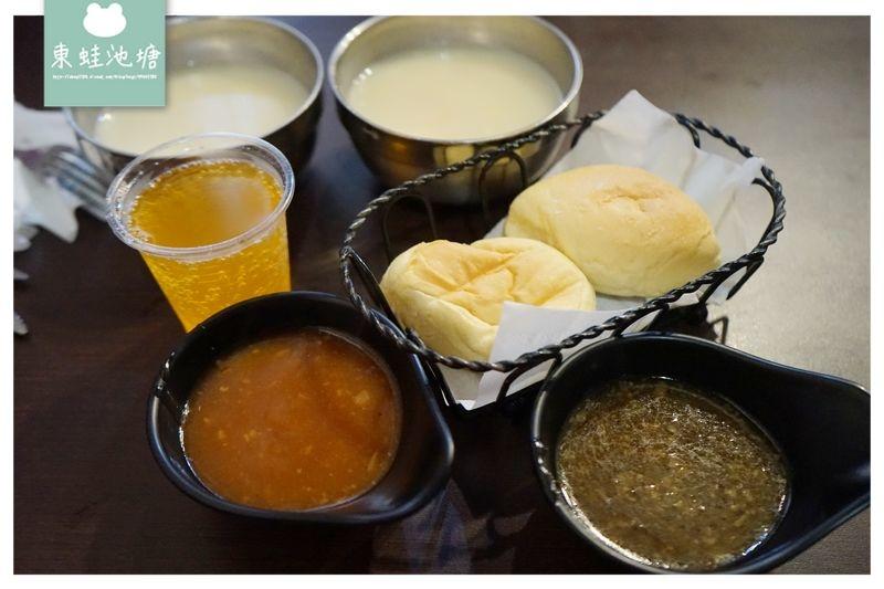 【中原大學牛排推薦】附餐包 飲料湯品冰淇淋無限量供應 墨犇創意牛排