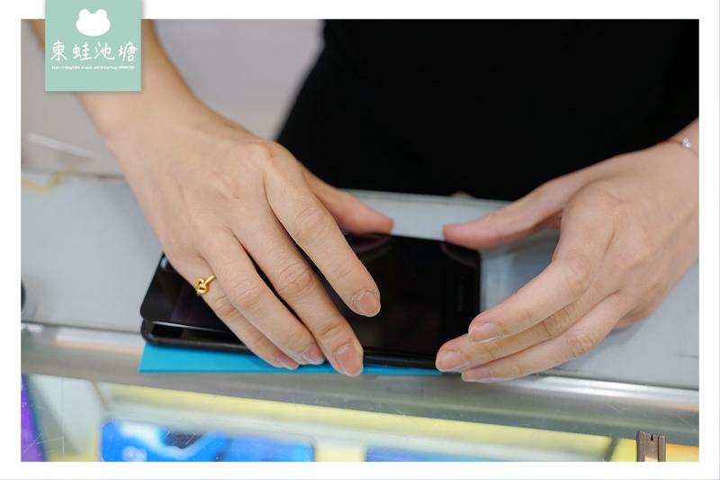【三重手機維修推薦】手機現場維修包膜 藍光盾玻璃保護貼 展利通訊