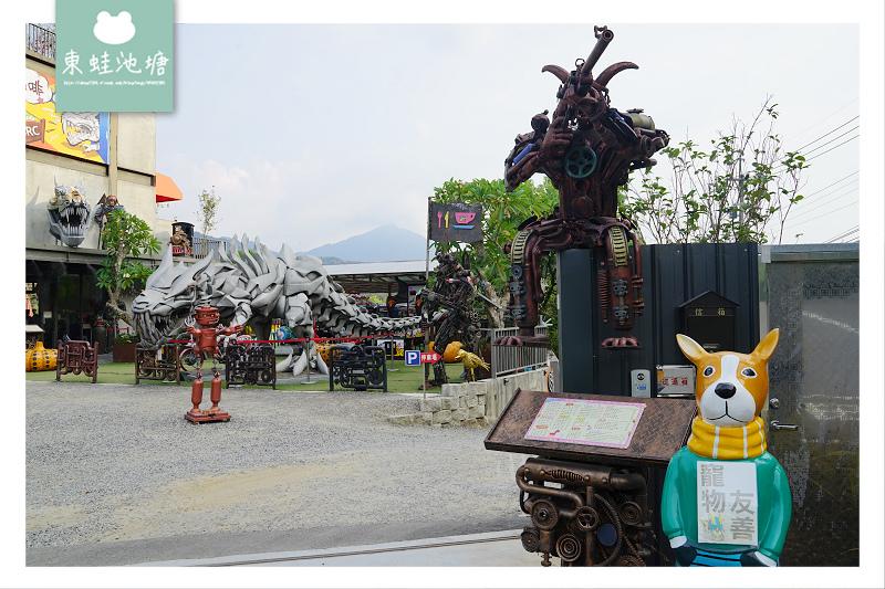 【新竹北埔景觀餐廳推薦】變形金剛藝術造景 骨董重型機車 SRC 北埔印象咖啡民宿