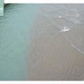 【金山免費景點推薦】水尾漁村出海口 金山海水浴場沙灘旁 員潭溪景觀橋