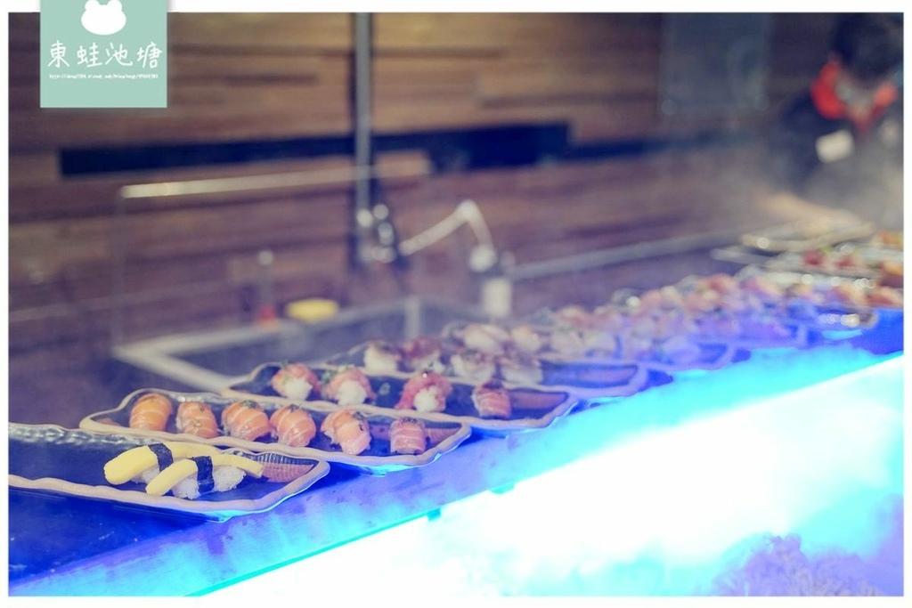台北公司聚餐吃到飽 嗨蝦蝦百匯鍋物光復店 鴛鴦鍋/握壽司生魚片/天使紅蝦/雞佛無限量供應