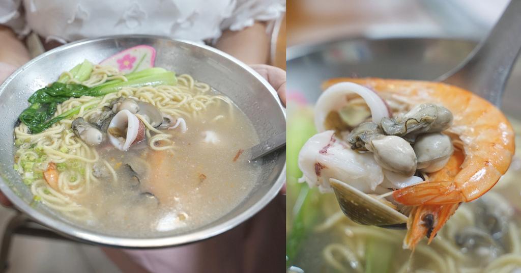 【新竹南寮漁港平價小吃推薦】超大碗台式海鮮麵 美味蹄膀滷肉飯 吳家麵