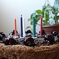 親手做給某人慶生的蛋糕