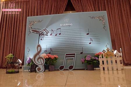 朵兒 漢來巨蛋金龍廳 氛圍區佈置背板