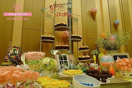 楊陶之戀 婚禮空間設計(Candy Bar)-高雄婚顧 朵兒