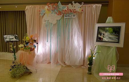 楊陶之戀 婚禮空間設計(入口氛圍區2)-高雄婚顧 朵兒婚禮派
