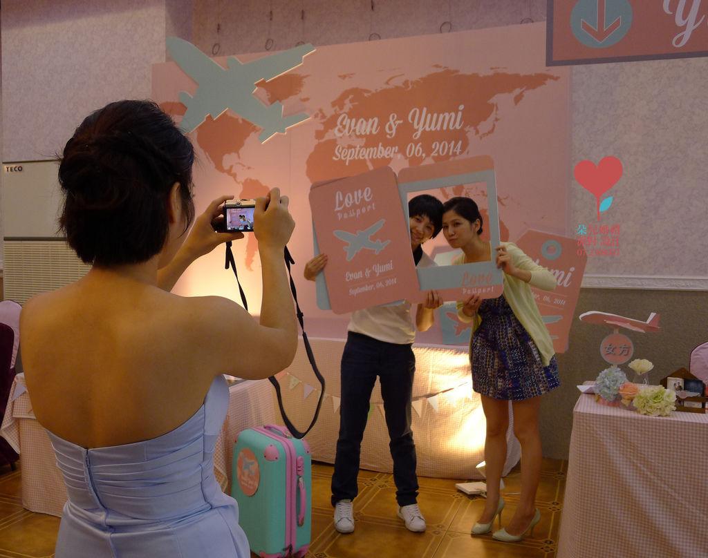 粉紅航空公司(屏東里港 全香宴席廳)--高雄婚禮顧問佈置 朵兒婚禮派對設計