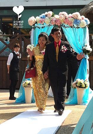 朵兒婚禮派對設計 婚禮顧問 婚禮佈置_20150117西子灣沙灘會館戶外婚禮1