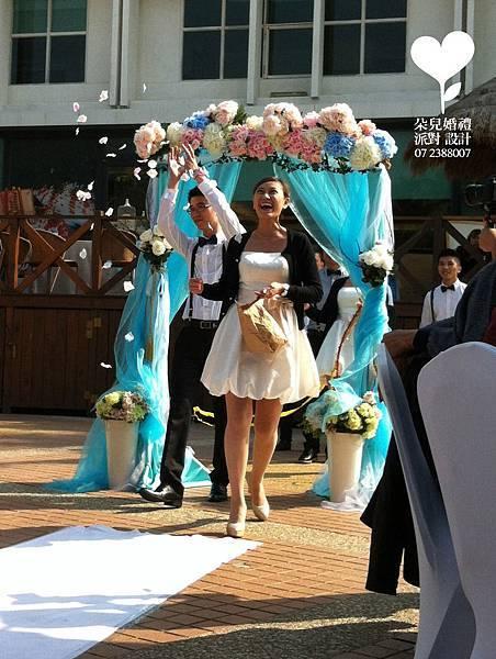 朵兒婚禮派對設計 婚禮顧問 婚禮佈置_20150117西子灣沙灘會館戶外婚禮5