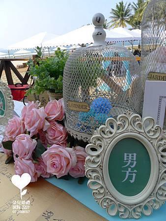 朵兒婚禮派對設計 婚禮顧問 婚禮佈置_20150117西子灣沙灘會館戶外婚禮10