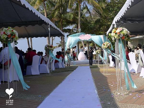 朵兒婚禮派對設計 婚禮顧問 婚禮佈置_20150117西子灣沙灘會館戶外婚禮12