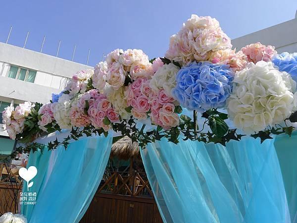 朵兒婚禮派對設計 婚禮顧問 婚禮佈置_20150117西子灣沙灘會館戶外婚禮14
