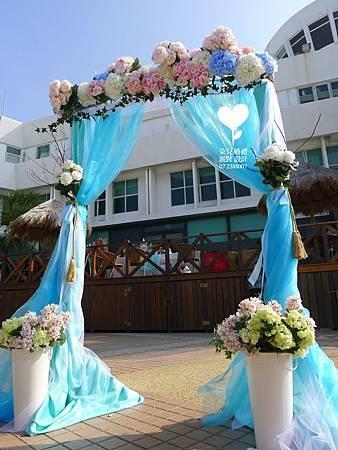 朵兒婚禮派對設計 婚禮顧問 婚禮佈置_20150117西子灣沙灘會館戶外婚禮15