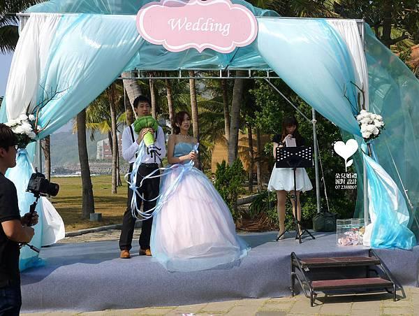 朵兒婚禮派對設計 婚禮顧問 婚禮佈置_20150117西子灣沙灘會館戶外婚禮16