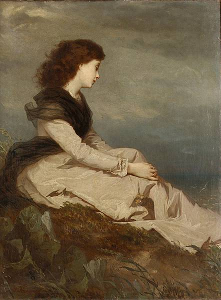 Wilhelm August Lebrecht Amberg (1822-1899) - Distant thoughts.