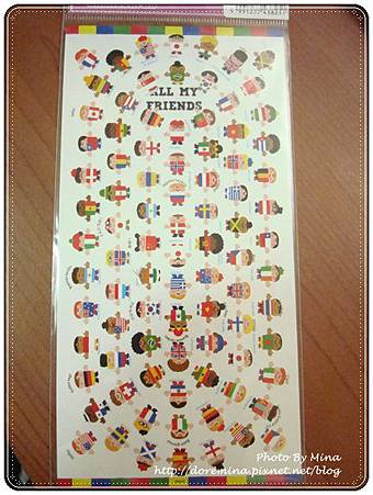 Kamio Japan 貼紙 世界國旗小人偶