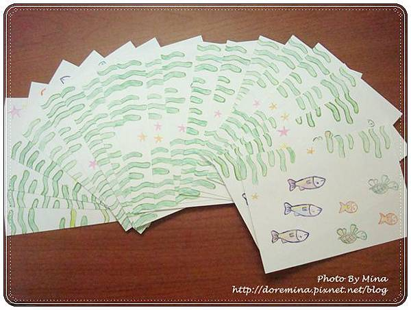 迷娜手製卡片-主題:海底世界
