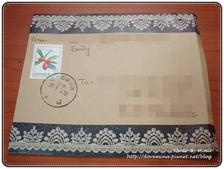 愛美麗寄來的信封