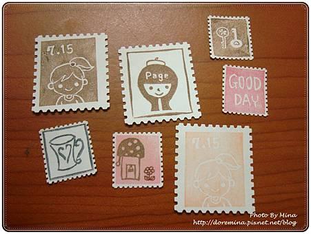 今日郵票貼紙作品