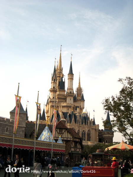 傍晚的迪士尼城堡