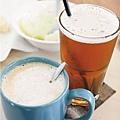 檸檬紅茶+熱拿鐵