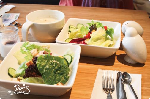 沙拉+濃湯