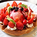鹿早茶屋-草莓森林巧克力鬆餅