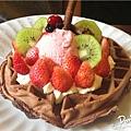 鹿早茶屋-草莓森林巧克力鬆餅2