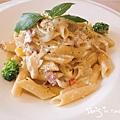 洋風義大利餐廳-義式經典奶油蛋培根麵