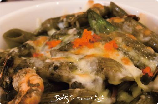 0安捷莉朵義大利餐廳-明太子鮮蝦奶油墨魚汁2