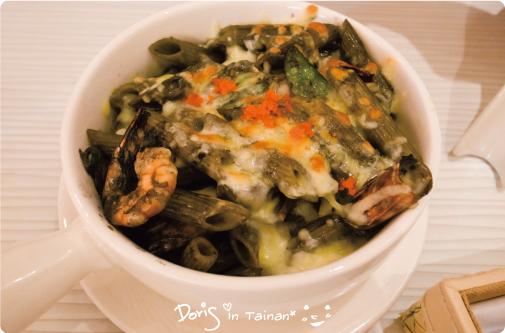 0安捷莉朵義大利餐廳-明太子鮮蝦奶油墨魚汁