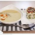 濃湯+牛蒡香鬆烤飯糰.jpg