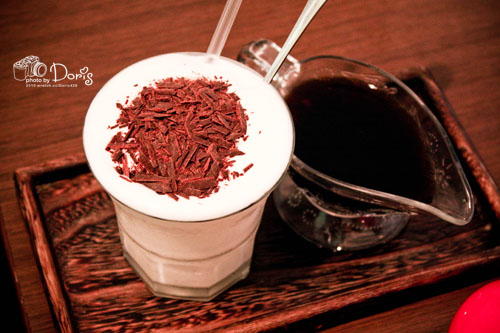 ‧一心點的100%純巧克力咖啡