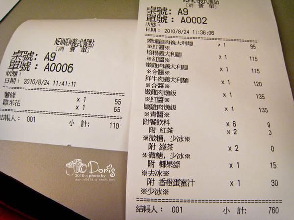 這次用餐的菜單