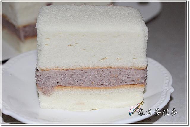台中南屯甜點★春天蛋糕房之低脂豆漿香芋蛋糕  芋香濃厚 豆漿蛋糕軟綿
