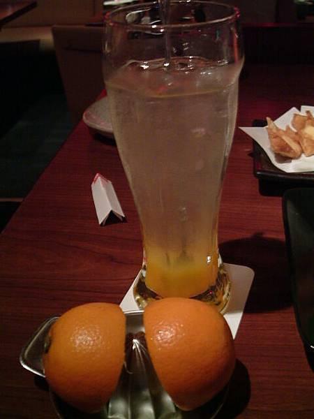 鮮榨柳橙沙瓦