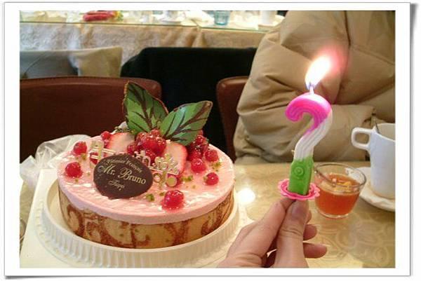 配上我的生日蠟燭