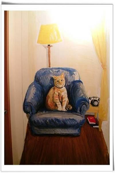 貓薄荷店內牆面繪圖