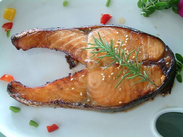 檸檬味噌香烤鮭魚